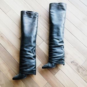 Sigerson Morrison Black Leather Slouchy Boots 7.5